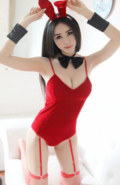 ชุดกระต่ายสีแดง