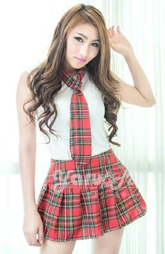 ชุดญี่ปุ่นสก็อตสีแดง